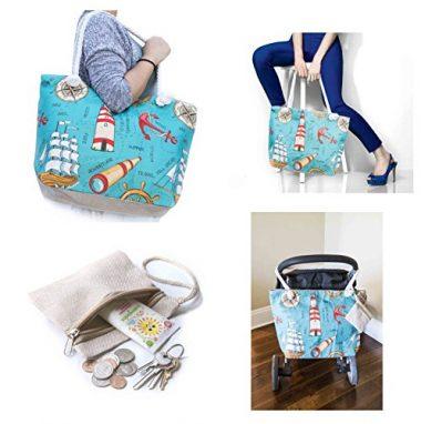 JJMG Stroller Friendly Summer Beach Bag