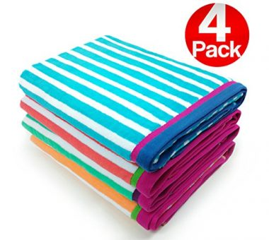 Velour Racing Stripe Beach & Pool Towel by Kaufman