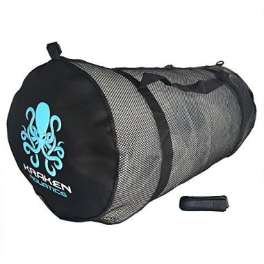 Mesh Duffel Gear Bag with Shoulder Strap for Scuba Diving