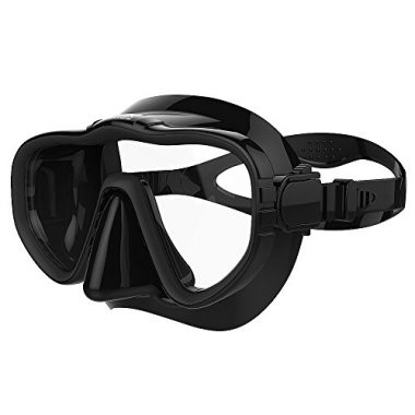 Snorkel Dive Mask with Silicone Skirt and Strap by Kraken Aquatics