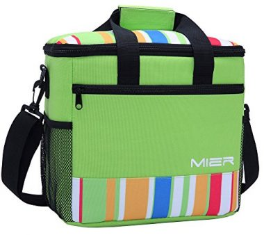 MIER 24-can Large Capacity Tote Insulated Lunch Bag Beach Cooler