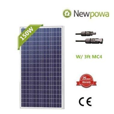 Newpowa 150 Watt Solar Panel For Sailboat