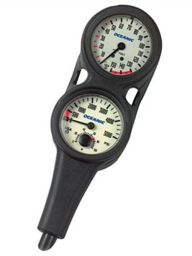 Oceanic Oil Filled Pressure & Depth Combo Scuba Gauge