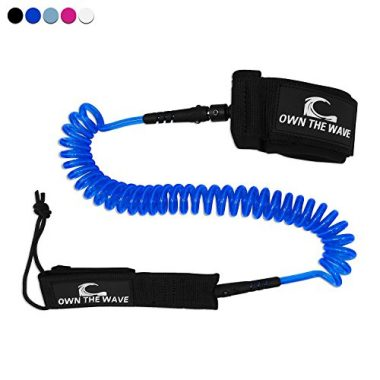 Own the Wave Premium SUP Coiled Paddle Board Leash