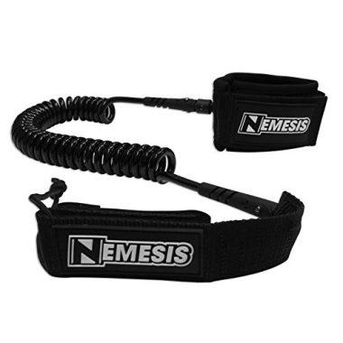 Nemesis Surf Super Premium SUP Coiled Paddle Board Leash