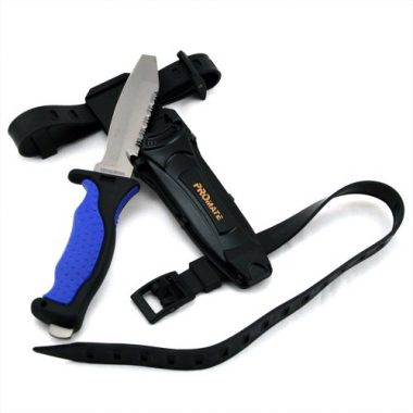 Promate Titanium Scuba Dive Knife With Straps and Sheath