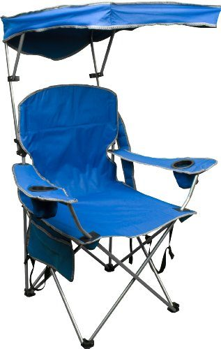 Quick Shade Adjustable Canopy Folding Beach Chair