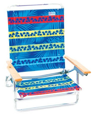 Rio Brands 5 Position Classic Lay Back Beach Chair