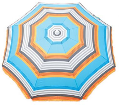 Deluxe Sun Protection Beach Umbrella by Rio Brands
