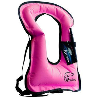 Unisex Adult Portable Inflatable Canvas Life Jacket Snorkel Vest