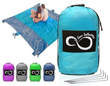 Live Infinitely Sand Free Compact Outdoor Beach Blanket