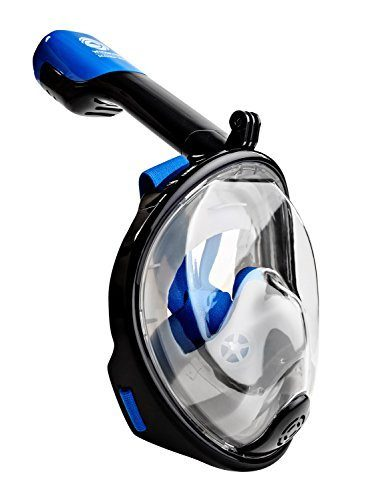 Seaview 180° GoPro Compatible Panoramic Full Face Snorkel Mask Design