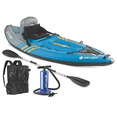 Sevylor Quikpak K1 1-Person Kayak For Beginners