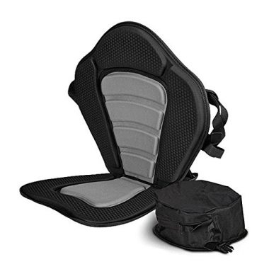 Sit On Top Deluxe Cushioned Seat With Back Pack Storage Pouch