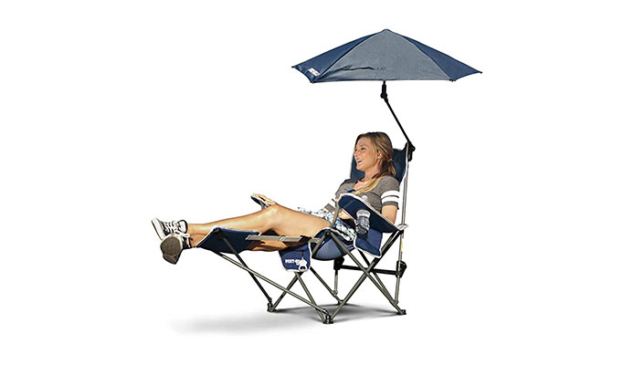 Sport-Brella 3-Position Recliner Removable Umbrella Beach Chair