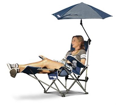 Sport-Brella 3-Position Recliner Removable Umbrella Beach Chair