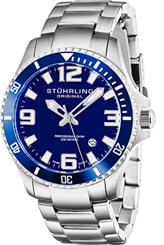 Stuhrling Original Aquadiver Regatta Analog Quartz Dive Watch