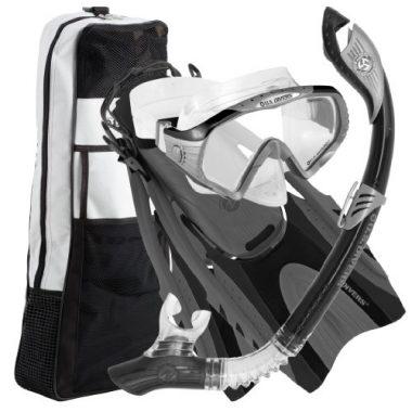 U.S. Divers Adult Starbuck II Purge LX Snorkeling Gear Set