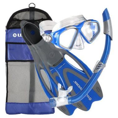 U.S. Divers Adult Cozumel Snorkel Gear – Mask/Seabreeze Snorkel/Proflex Fins/Gearbag