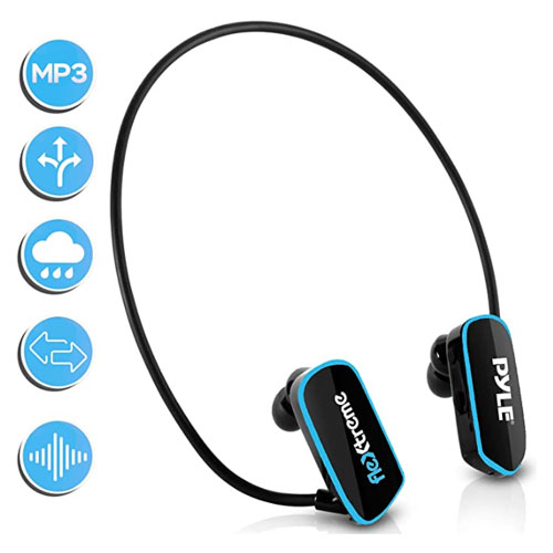 Pyle MP3 Player Swim Waterproof Headphones