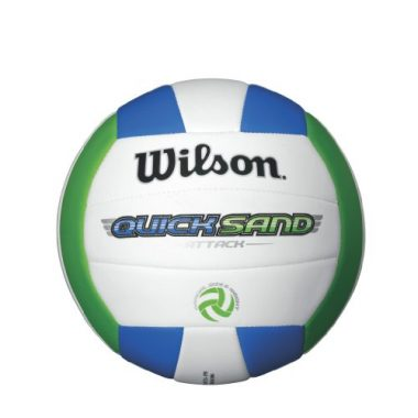 Wilson Quicksand Spike Volleyball, Orange/Green
