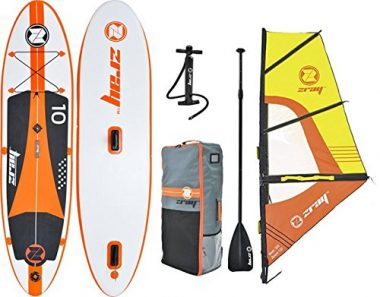 Z-Ray Windsurfing Inflatable Stand-Up Paddleboard Set with Board/Sail/Pump/Paddle/Backpack