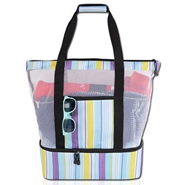 Blue Sky Basics Mesh Tote Bag Beach Cooler