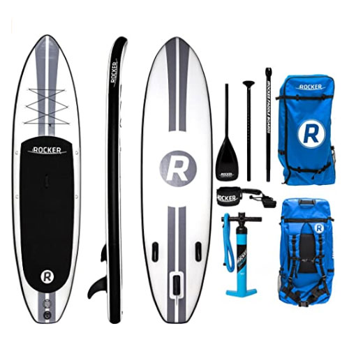 iROCKER All-Around Inflatable Stand Up Fishing Paddle Board