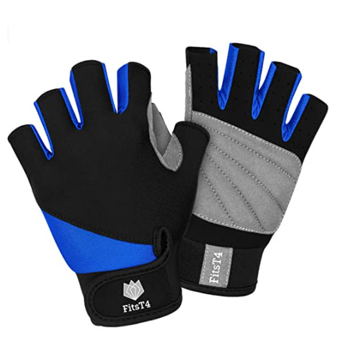 FitsT4 Unisex 3/4 Finger Kayak Gloves