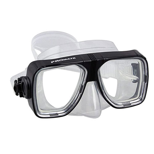 Promate Scope Scuba Dive Mask for Snorkeling Scuba Diving Snorkel Mask Lens-changeable for Rx Prescription-Available