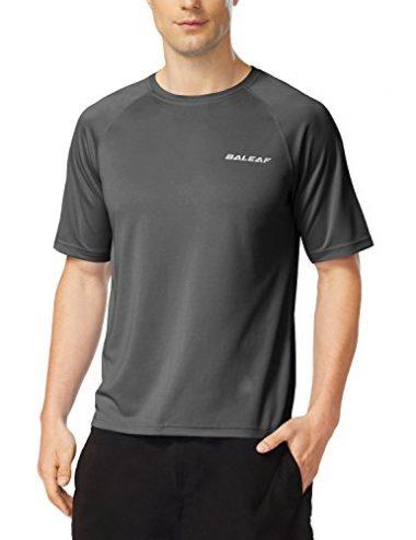 Baleaf Men's Short Sleeve Rash Guard