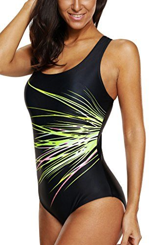 CharmLeaks Women's One Piece Bathing Active Swimsuit