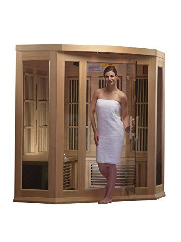 Dynamic Saunas Maxxus 3-Person Corner Infrared Sauna
