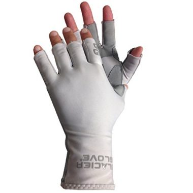 Glacier Glove Islamorada Gray Kayaking Gloves