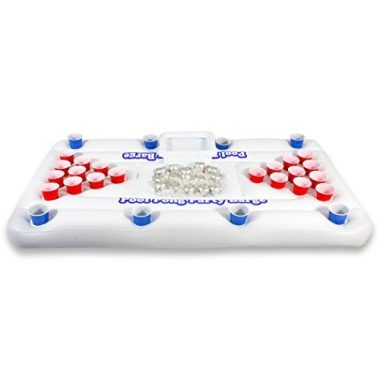 GoPong Original Pool Party Barge Floating Beer Pong Table with Cooler