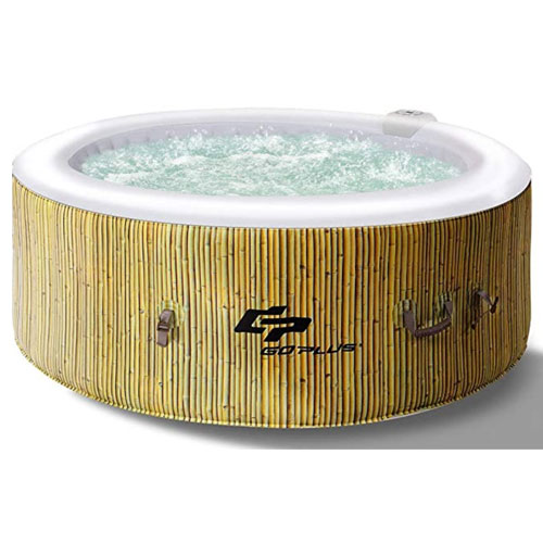 Goplus 4 Person Inflatable Hot Tub