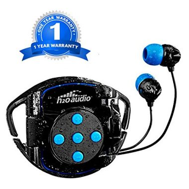 H20 Audio Waterproof Headphones and Waterproof iPod Shuffle Case