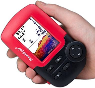 Fishtrax 1C Fish Finder with HD Color Virtuview Display by Hawkeye