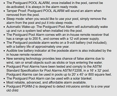 PoolGuard In-Ground Pool Alarm