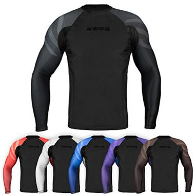 Essentials Long Sleeve Compression Base Layer Rash Guard by Sanabul