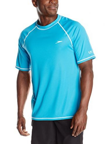 Men's Short Sleeve Rashguard Swim Tee by Speedo