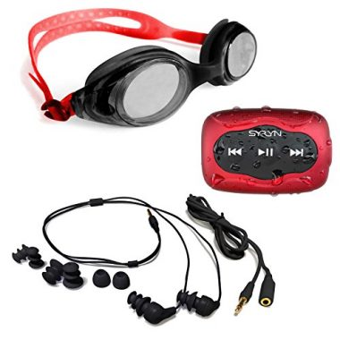 Swimbuds Heaphones and SYRYM Waterproof MP3 Player