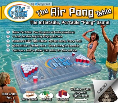The Air Pong Table Inflatable Beer Pong Cooler