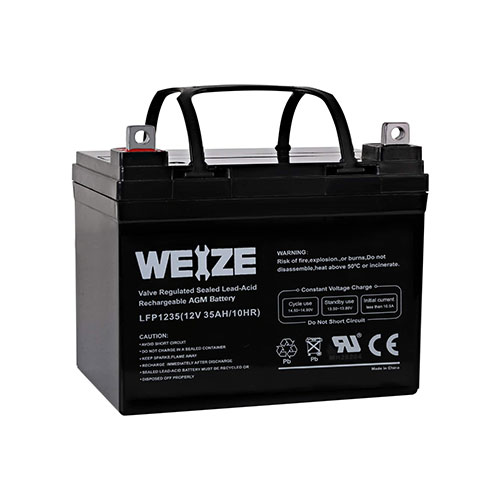 Weize 12V 35AH SLA AGM Deep Cycle Marine Trolling Motor Battery