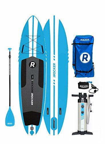 iROCKER Inflatable Fishing Stand Up Paddle Board 11′