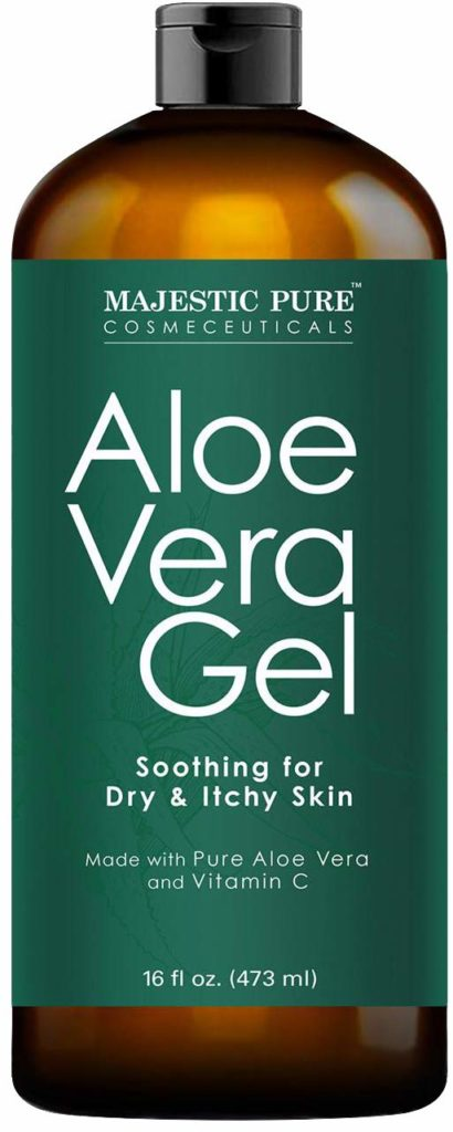 Majestic Pure Aloe Gel 100% Natural Cold Pressed Aloe Vera
