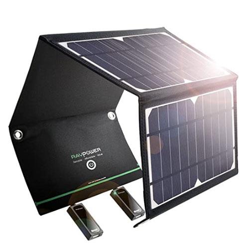 RAVPower Solar Charger 16W Dual-Port Solar Panel