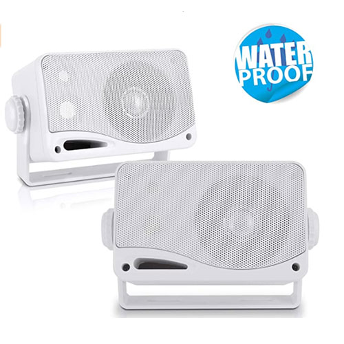 Pyle – 3-Way Weatherproof Marine Speakers