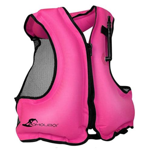 OMOUBOI Inflatable Snorkel Inflatable Life Jacket