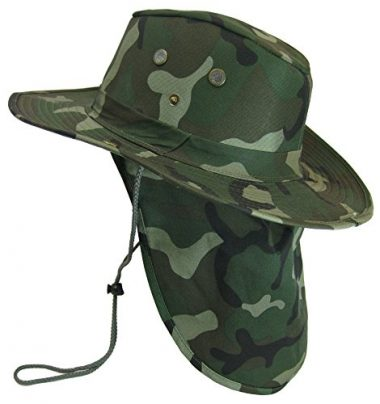 S And W Military Camouflage Boonie with Neck Flap